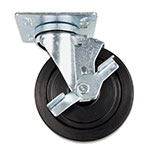 "Update CUTP-5L 5"" Top Plate Casters with Lock - 400-lb Capacity"