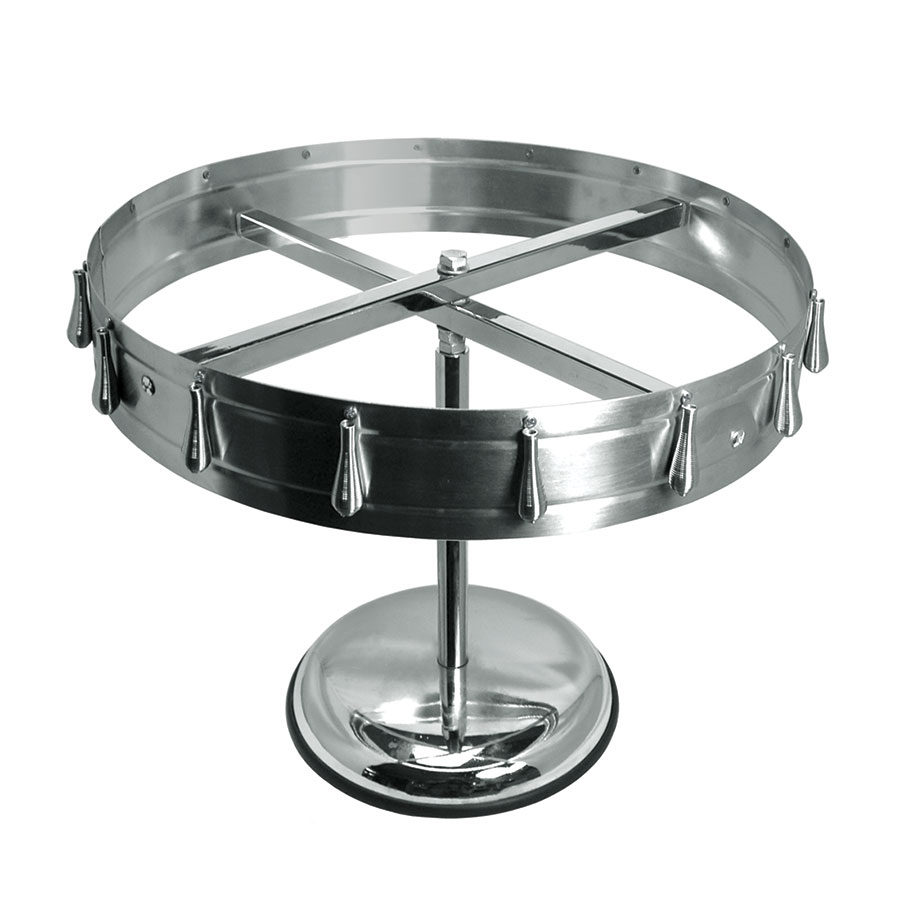 "Update International CW16 17-7/8"" Check Wheel - Pedestal/Ceiling Mount Kit, Stainless"