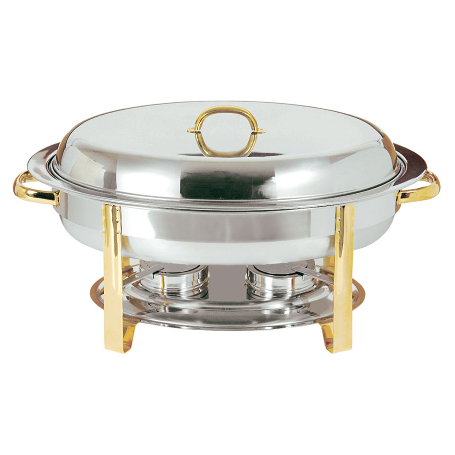 Update DC-3 Oval Chafer w/ Lift-off Lid & Chafing Fuel Heat