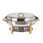 Update International DC-3FP 6-qt Oval Chafer Food Pan - (DC-3)