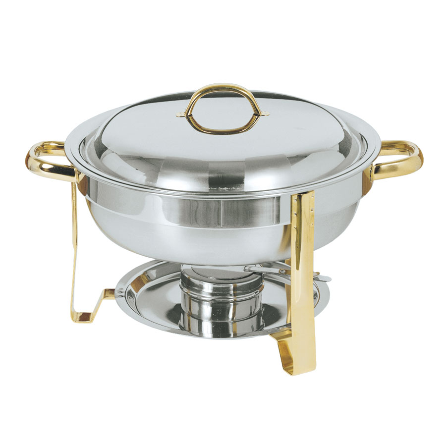 Update DC-4/GB Round Chafer w/ Lift-off Lid & Chafing Fuel Heat