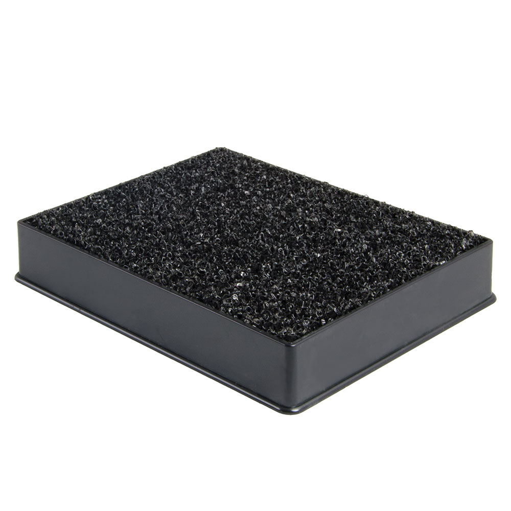 "Update International DT-3545 Plastic Drip Tray with Sponge - 4-7/8x3-13/16"" Black"