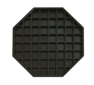 "Update DT-6X6 6-1/4"" Octagon Drip Tray - Black"