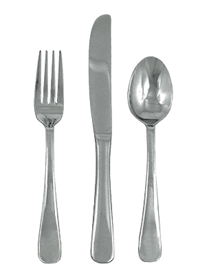 Update International DU-701 Duke Teaspoon - 2.5mm Stainless, Mirror-Polish