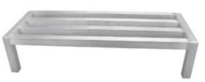 """Update International DNRK-2048T Dunnage Rack - 20x48x12"""" Aluminum"""