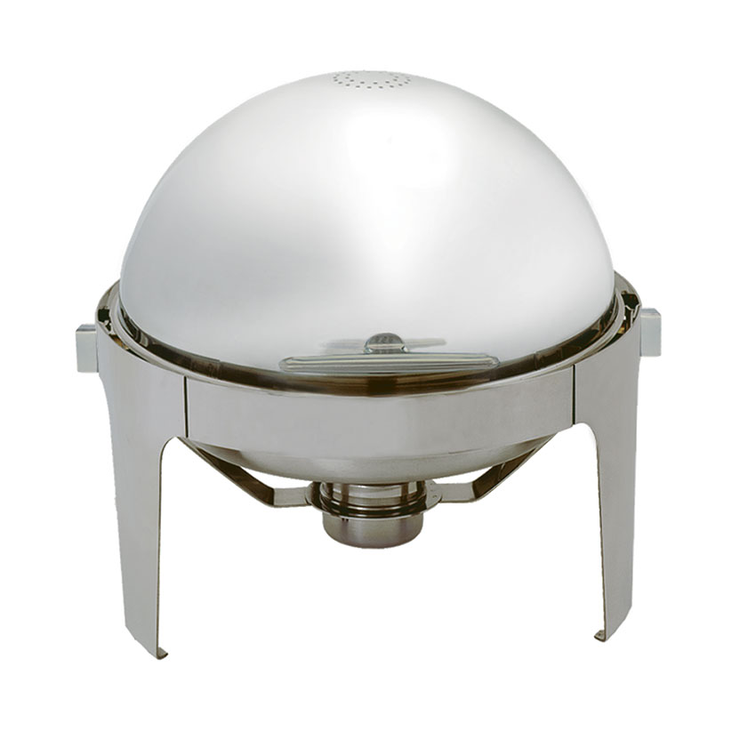 Update International EC-14N 6-1/2-qt Round Chafer - Roll-Top Cover, Stainless