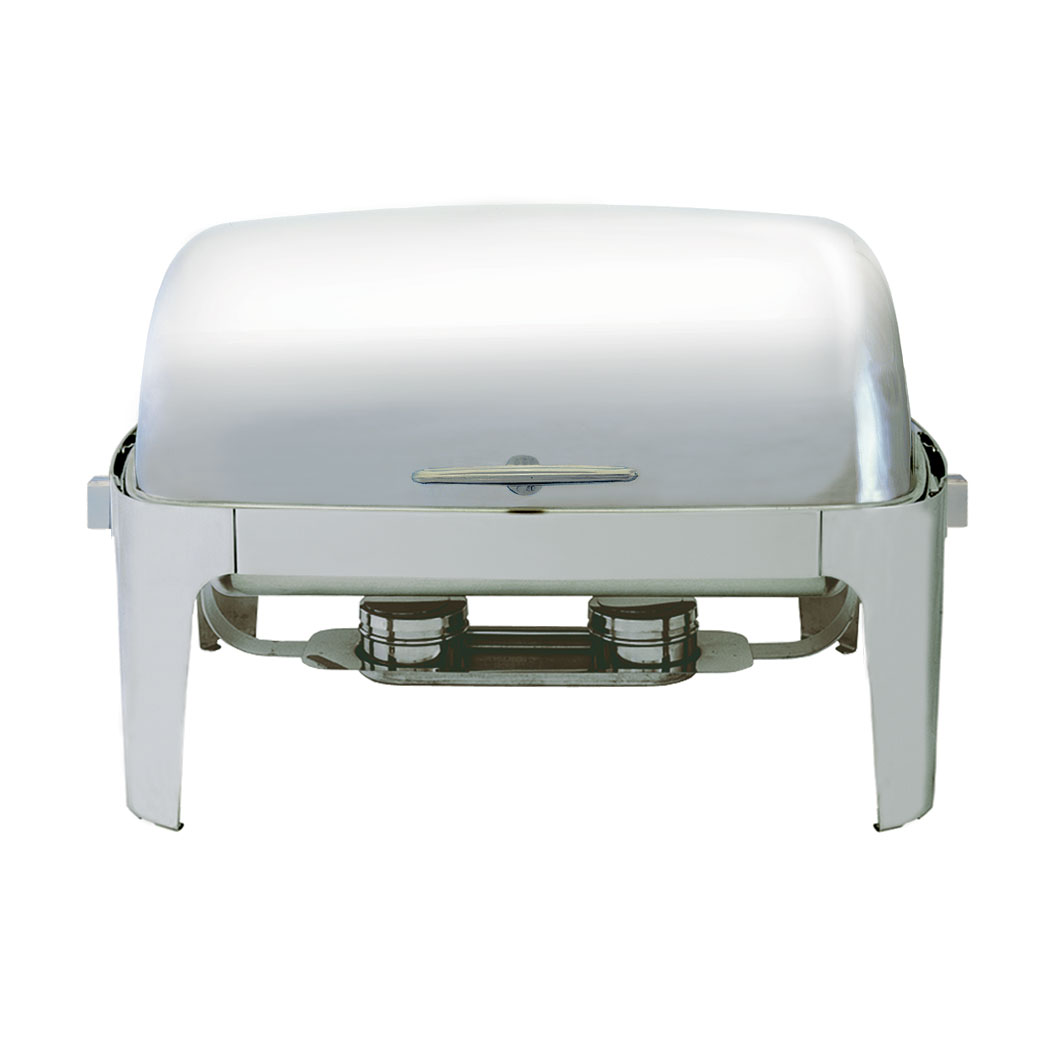 Update International EC-15N 8-qt Full-Size Chafer - Roll-Top Cover, 18/8 ga Stainless
