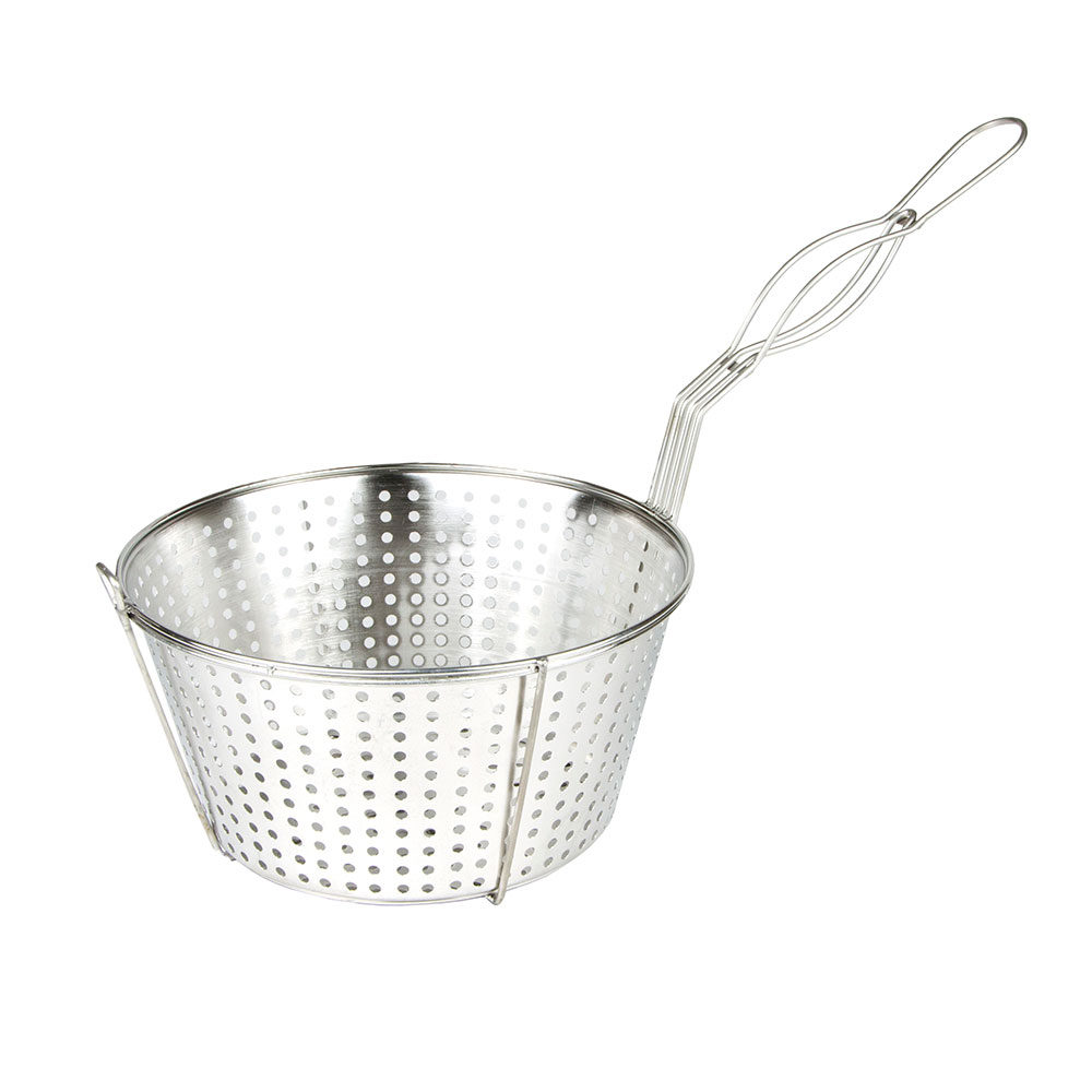 "Update FB-11/SS 11.5"" Round Fryer Basket, Steel"