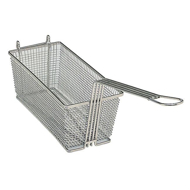 "Update International FB-126 12.87"" Round Fryer Basket, Nickle PLated"