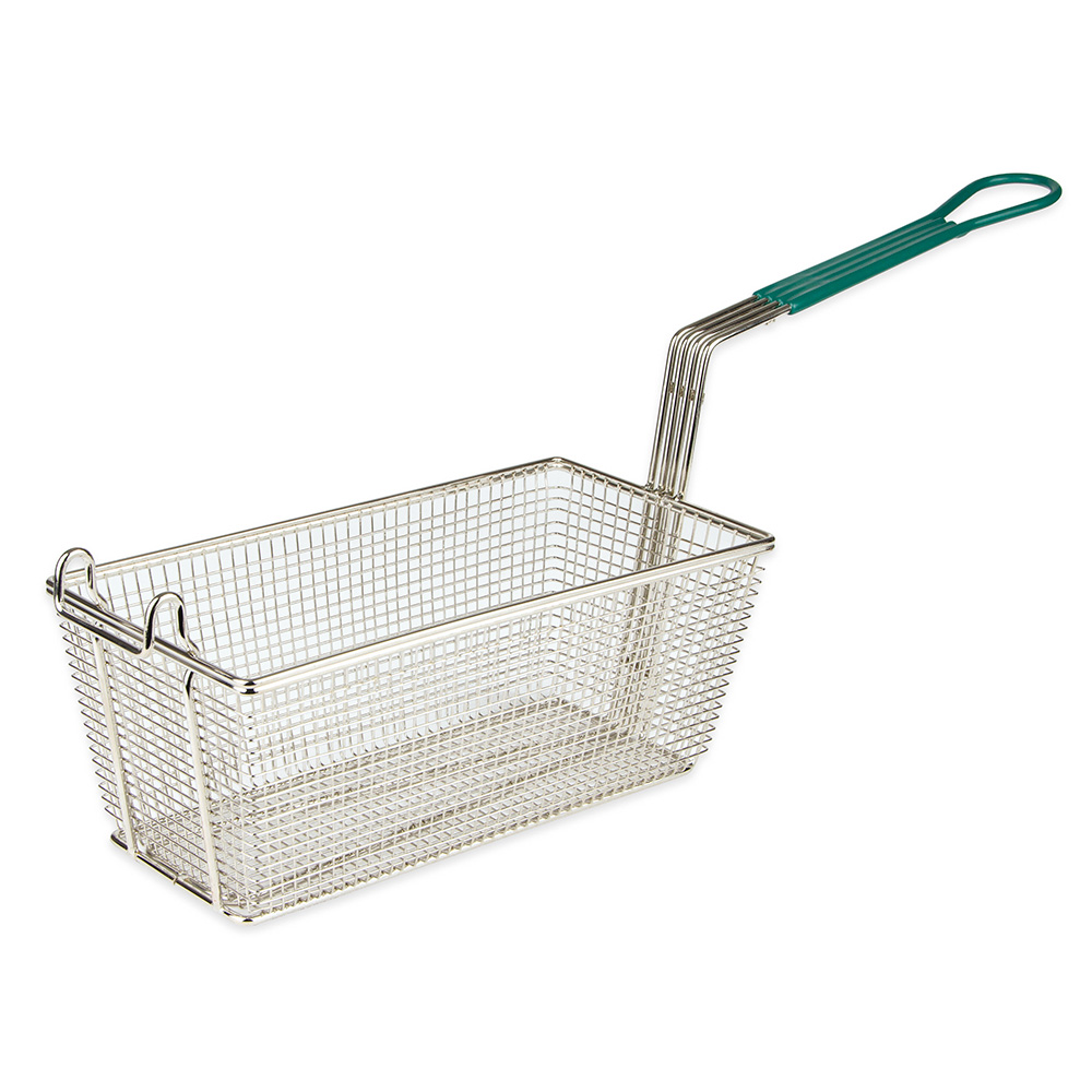 Update International FB-135PH Half Size Fryer Basket, Nickle Plated