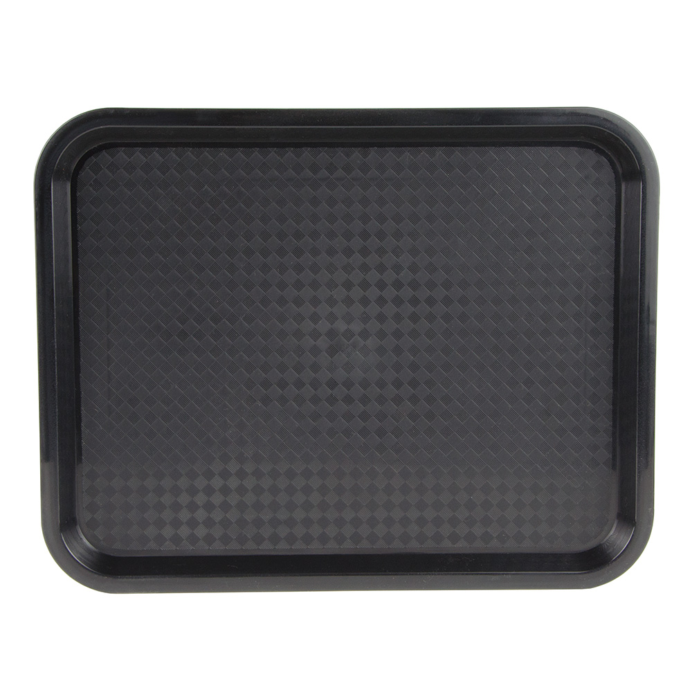 "Update FFT-1014BK Rectangular Fast Food Tray - 10x14"" Black"