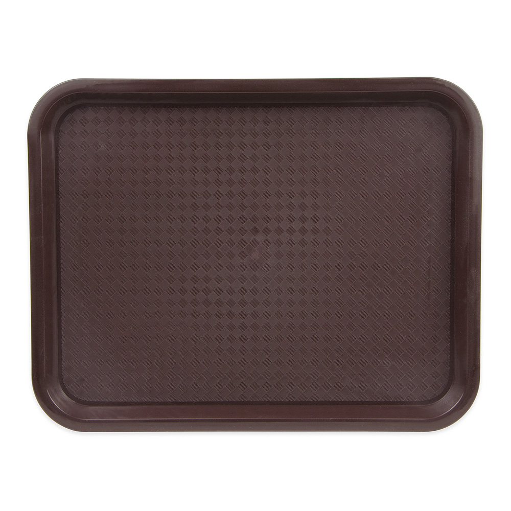 "Update FFT-1014BR Rectangular Fast Food Tray - 10x14"" Brown"