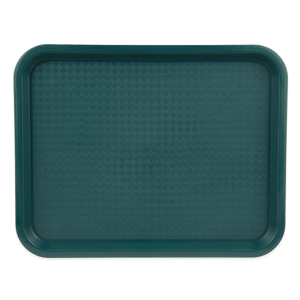 "Update FFT-1014GR Rectangular Fast Food Tray - 10x14"" Green"