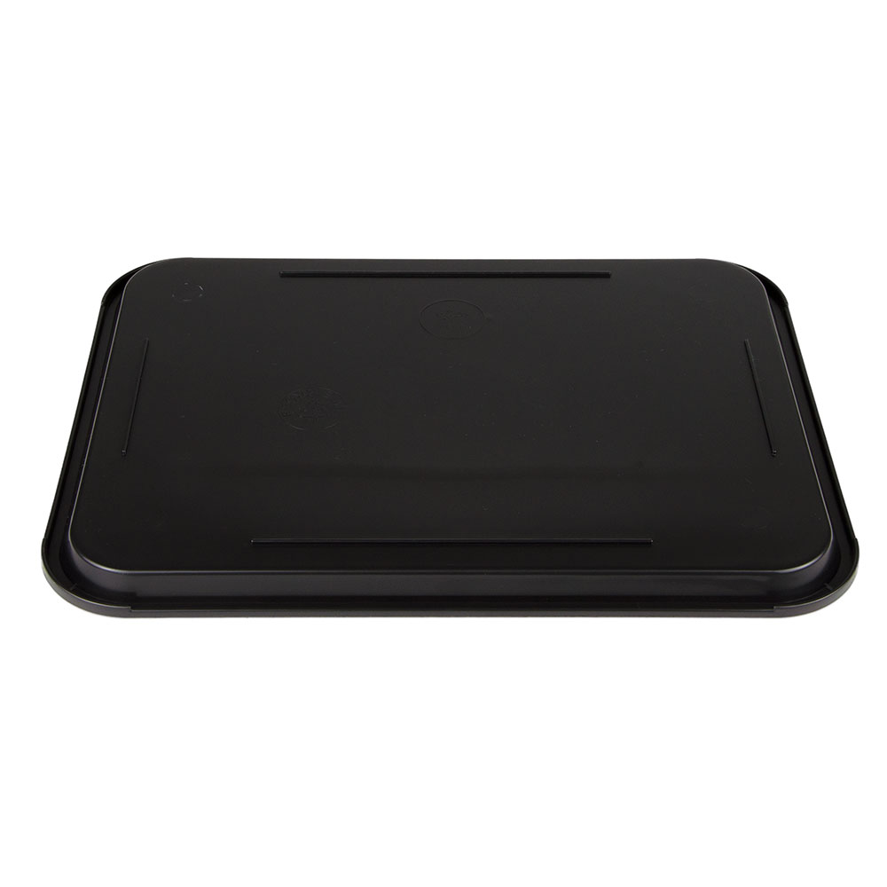 "Update FFT-1216BK Rectangular Fast Food Tray - 12x16"" Black"