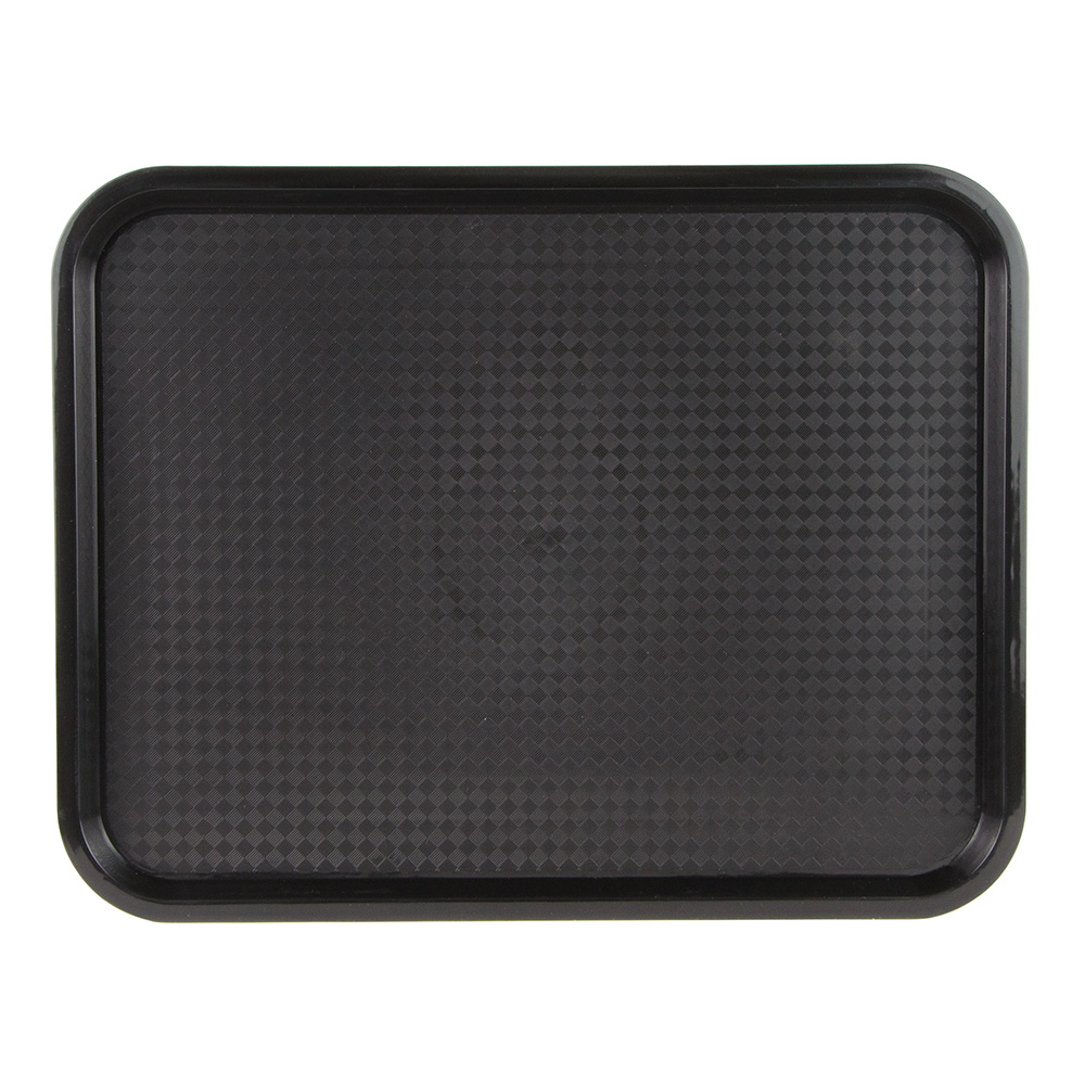 "Update FFT-1418BK Rectangular Fast Food Tray - 14x18"" Black"
