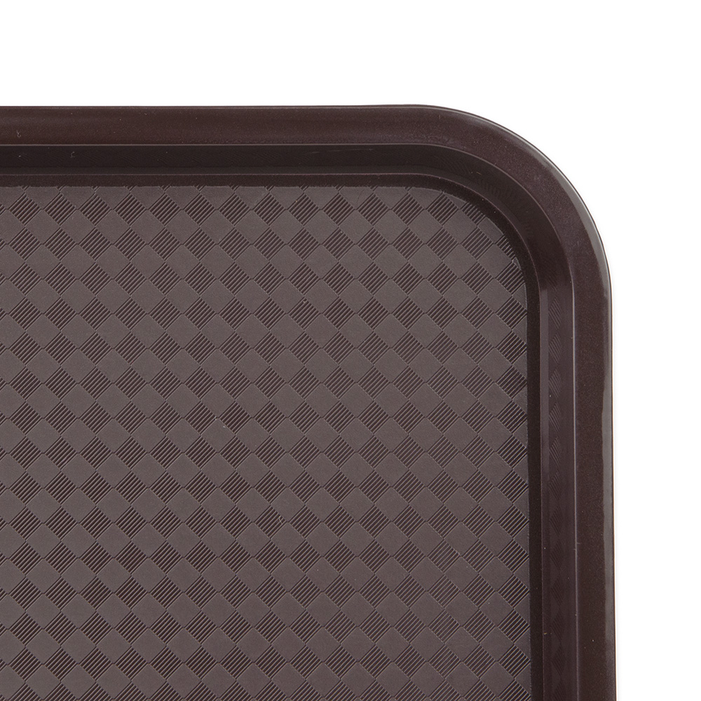 """Update FFT-1418BR Rectangular Fast Food Tray - 14x18"""" Brown"""