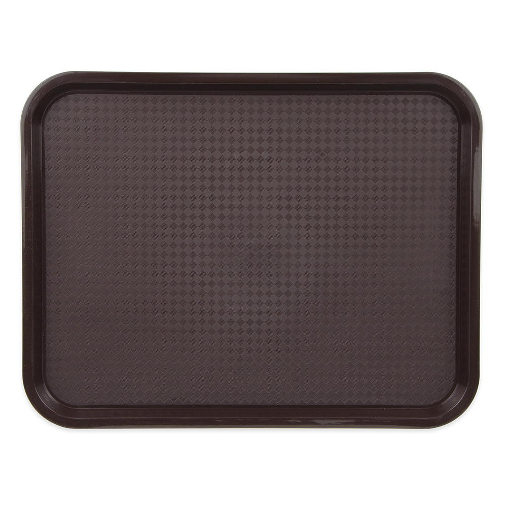 "Update FFT-1418BR Rectangular Fast Food Tray - 14x18"" Brown"