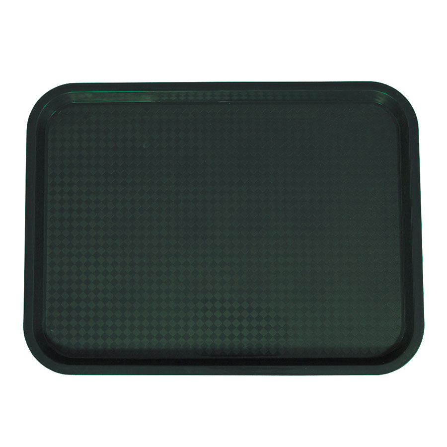 "Update FFT-1418GR Rectangular Fast Food Tray - 14x18"" Green"