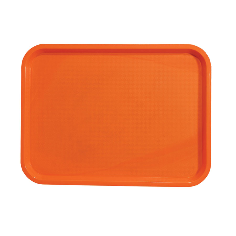 "Update FFT-1418OR Rectangular Fast Food Tray - 14x18"" Orange"