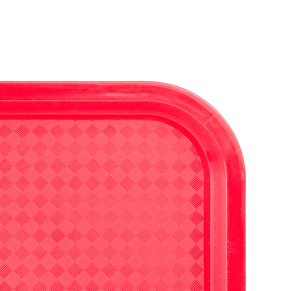 "Update FFT-1418RD Rectangular Fast Food Tray - 14x18"" Red"