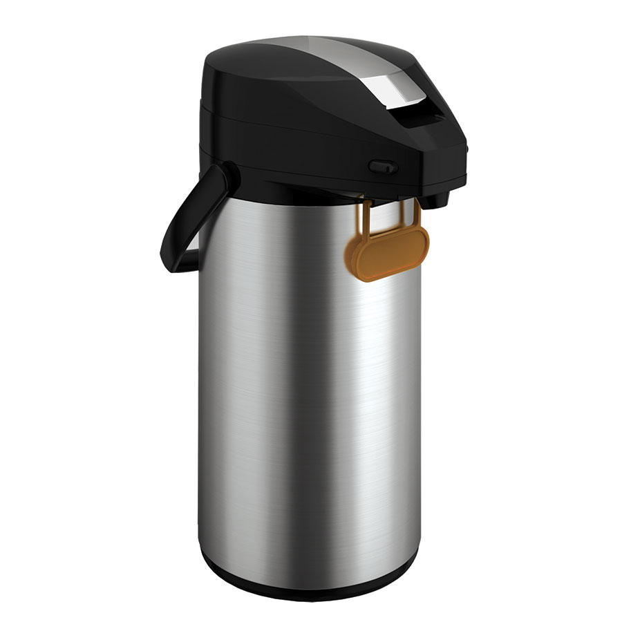 Update International FL-30SF 3.0-Liter Airpot - Bru-Thru, Lever Style Lid, Stainless