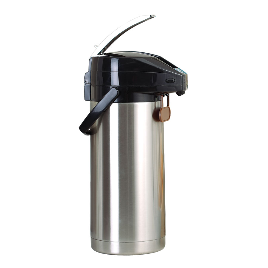 Update International FLSV-30SF 3-Liter Airpot - Lever Style Lid, Stainless