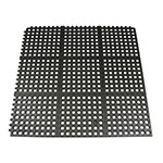 Update FM-33B 3' Square Interlocking Rubber Floor Mat - Black