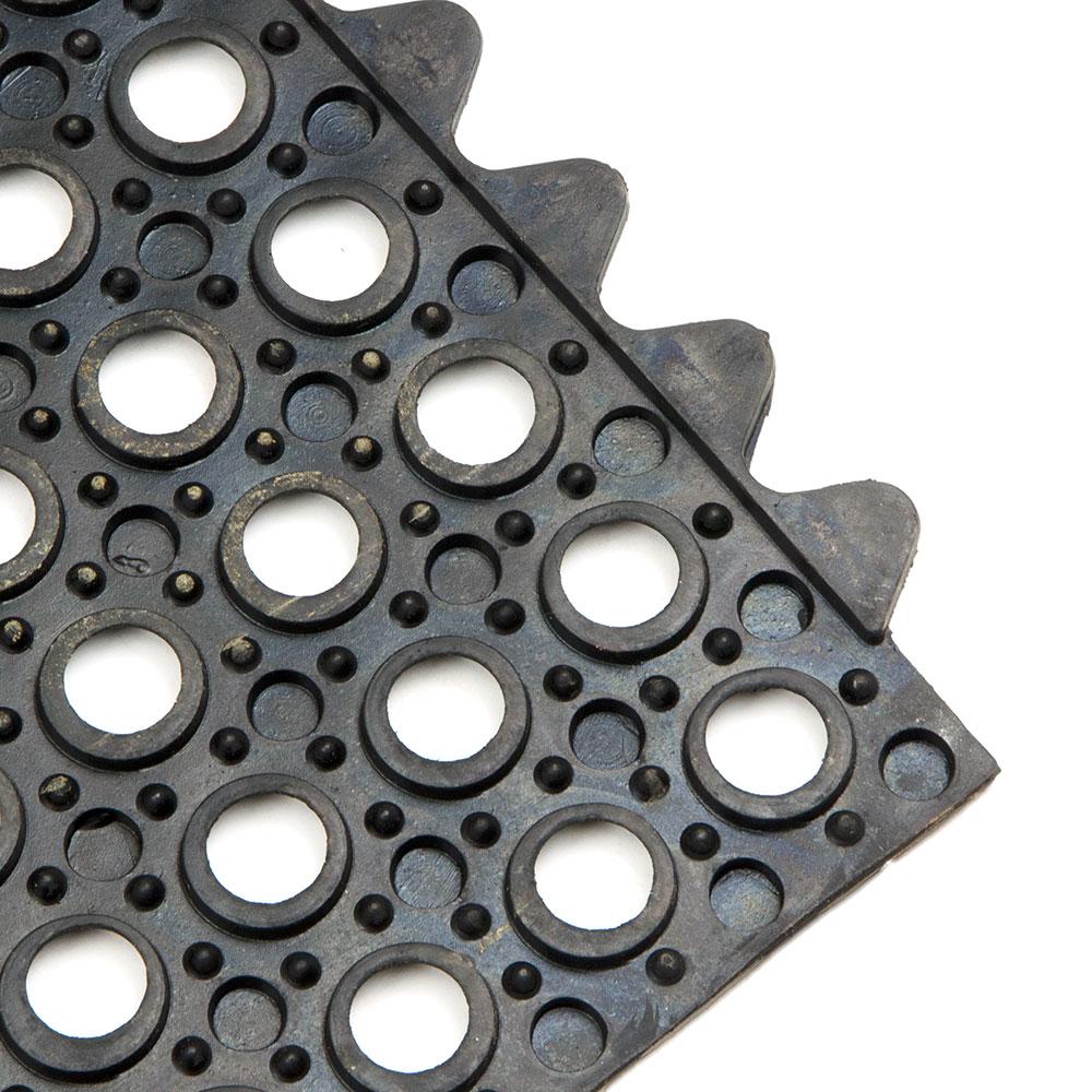 Update FM-33B 3' Square Interlocking Rubber Floor Mat - Black
