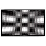 "Update International FM-35B 3/8"" Rectangular Anti-Fatigue Floor Mat - Slip-Resistant, 3x5' Black"