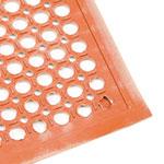 "Update FM-35R 3/8"" Rectangular Anti-Fatigue Floor Mat - Grease-Resistant, 3x5' Red"