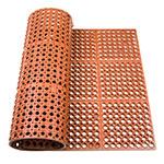 "Update FMHD-35R 3/4"" Rectangular Anti-Fatigue Floor Mat - Grease-Resistant, 3x5' Red"