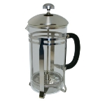 Update International FP-33 33-oz French Press - Black Bakelite Handle, Stainless Frame