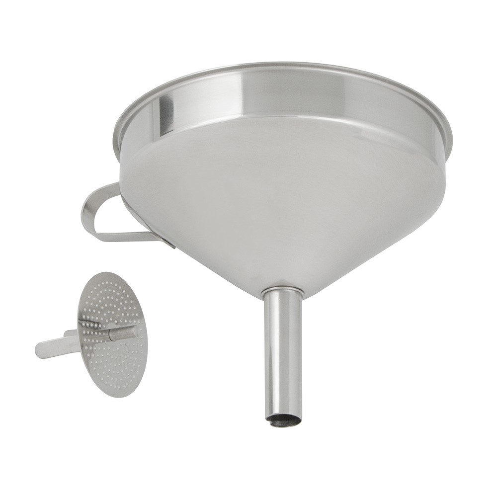 "Update FSV-6S 5-3/4"" Funnel with Removable Strainer - Stainless"