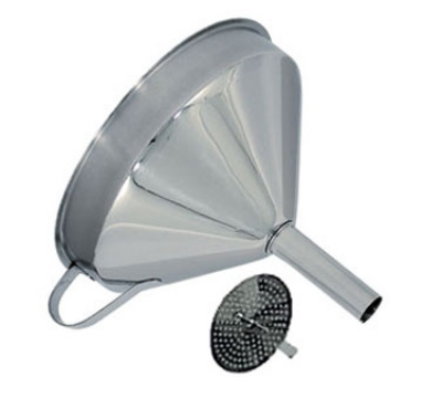 "Update FSV-5S 5"" Funnel with Removable Strainer - Stainless"