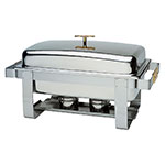 Update International GC-7 8-qt Grandeur Full-Size Chafer - Stainless/Gold Accent