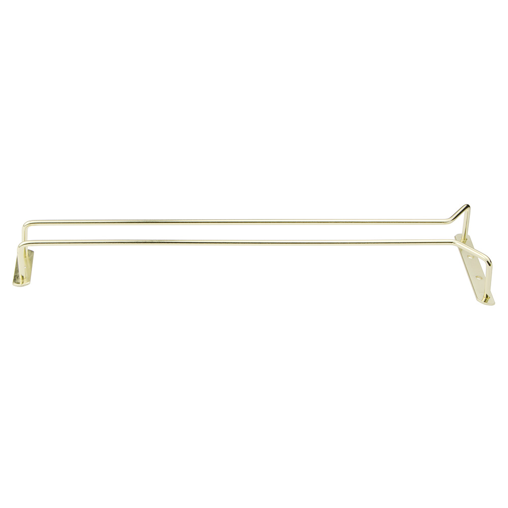 "Update International GHB-16 16"" Glass Hanger - Brass Plated"
