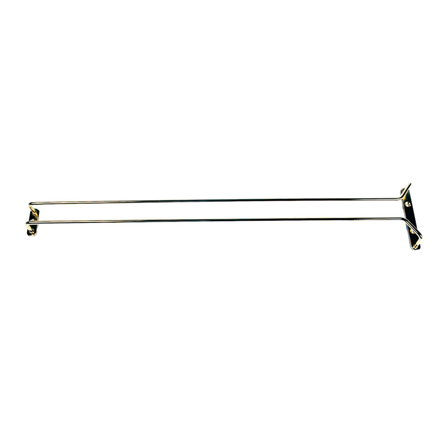 "Update GHB-24 24"" Glass Hanger - Brass Plated"