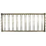 "Update GHBR-4820 Hanging Glass Rack - 48x19-1/2x6"" Brass Finish"