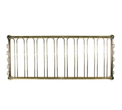 "Update International GHBR-4820 Hanging Glass Rack - 48x19-1/2x6"" Brass Finish"