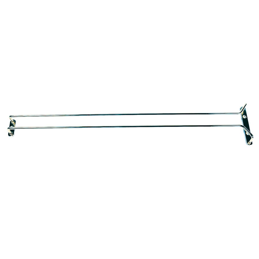 "Update International GHC-24 24"" Glass Hanger - Chrome Plated"