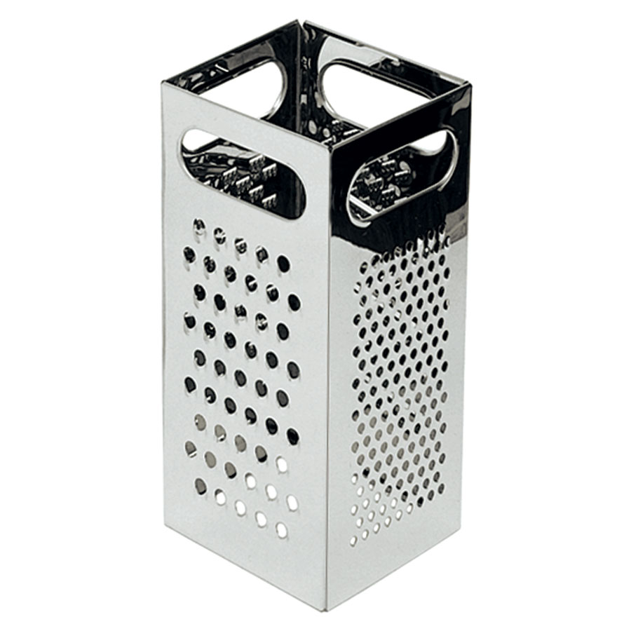 "Update GR-449 4-Edge Grater - 4-1/4x4-1/4x8-3/4"" Stainless"