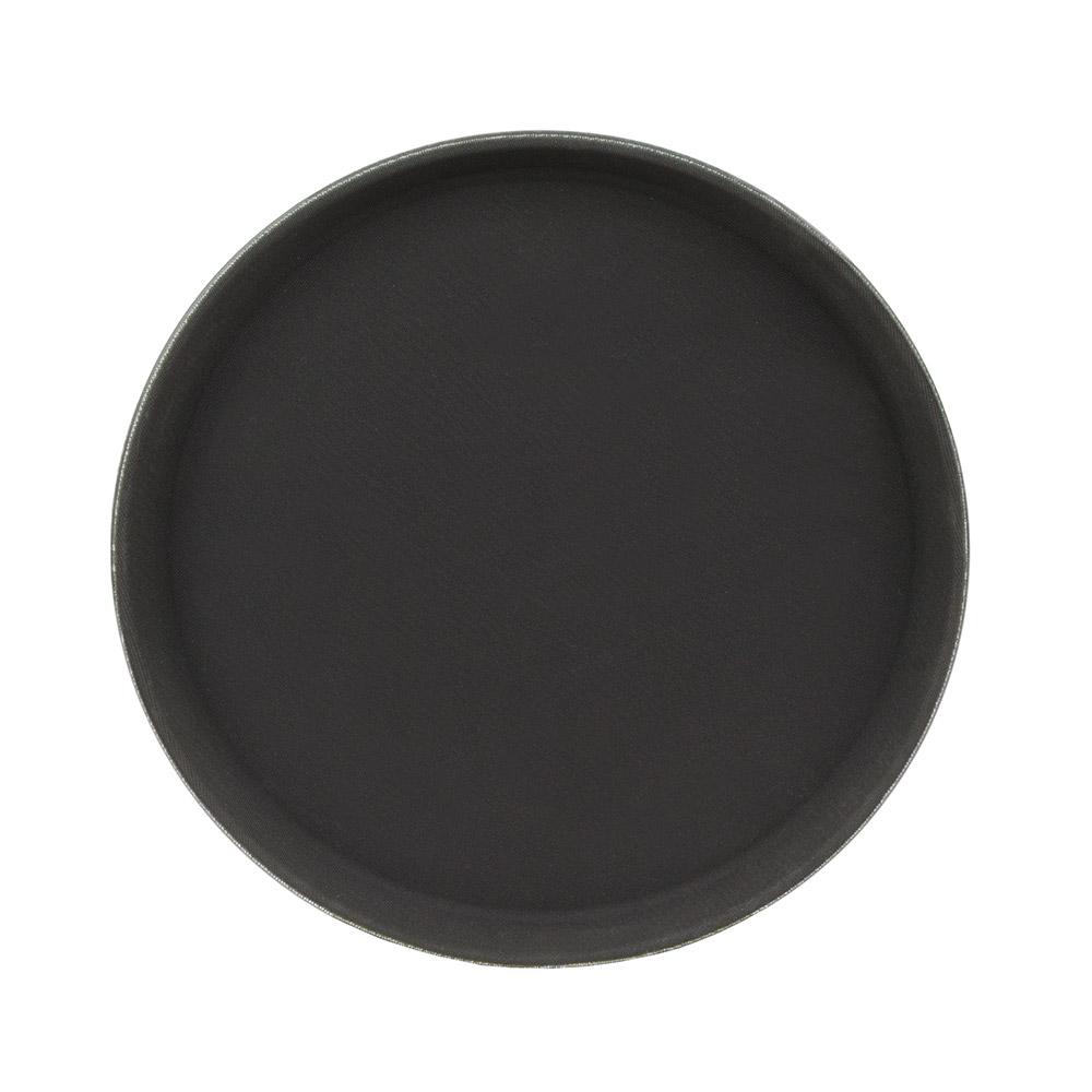 """Update GT-1100BK 11"""" Round Grip Tight Tray - Black"""
