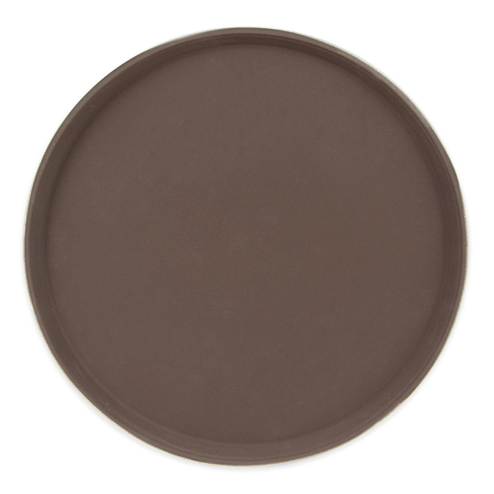 "Update GT-1600BR 16"" Round Grip Tight Tray - Brown"