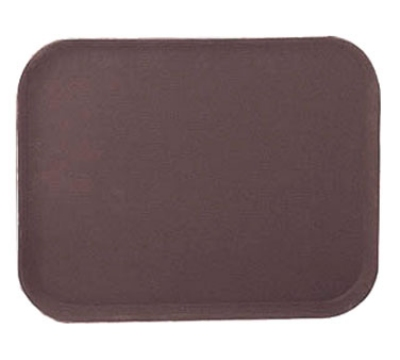 "Update International GT-1418BR Rectangular Grip Tight Tray - 14x18"" Brown"