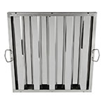 "Update HF-2020 Hood Baffle Filter - 19.5"" x 19.5"", Stainless"