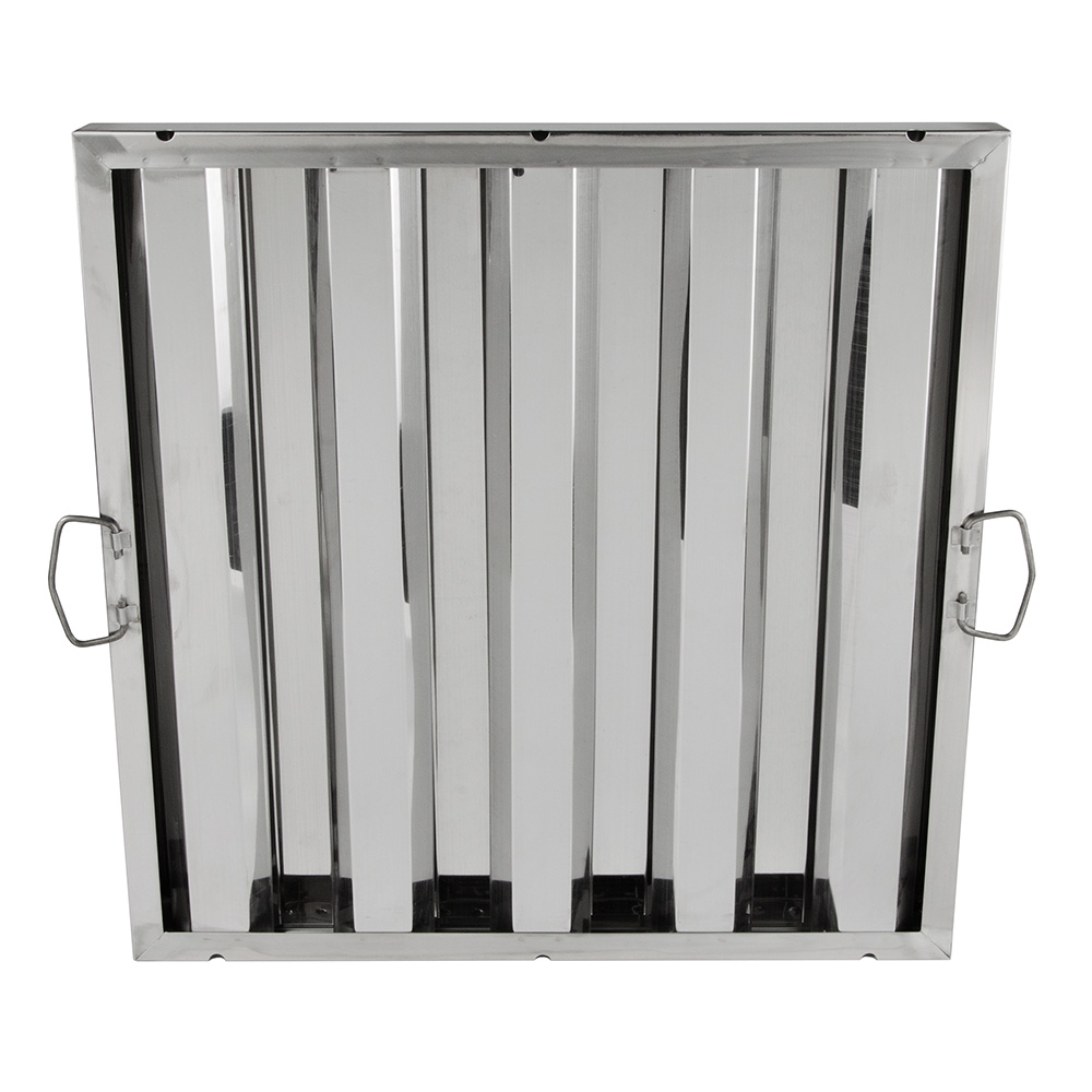 "Update HF-2020 Hood Baffle Filter - 20"" x 20"", Stainless"