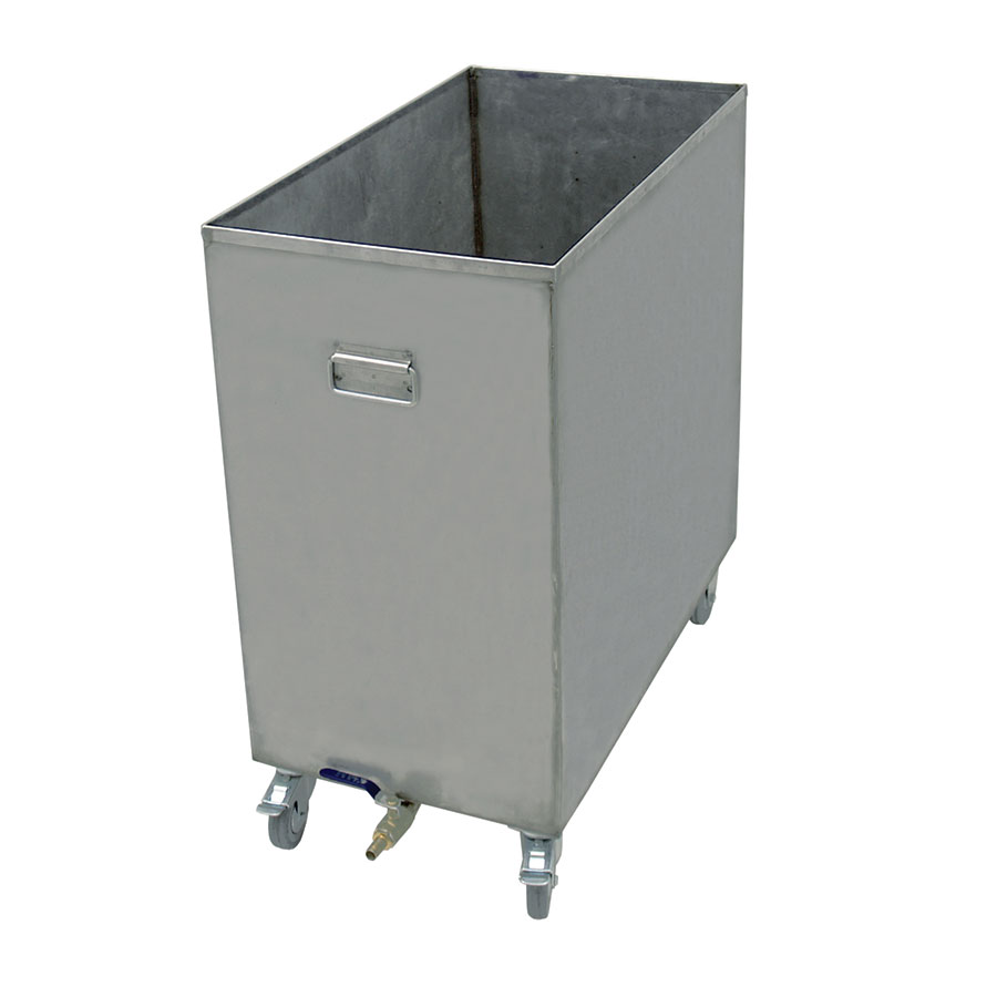 "Update HFSC-6 16-gal Hood Filter Soak Cart - 25-2/8x13-7/8x27-3/8"" Stainless"