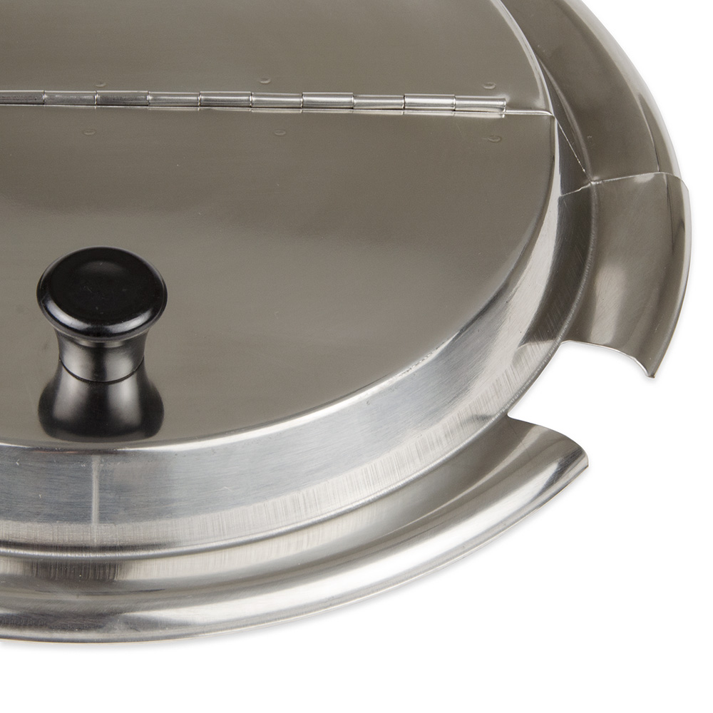 Update ISHC-110 11-qt Steam Table Inset Cover - Hinged, Stainless