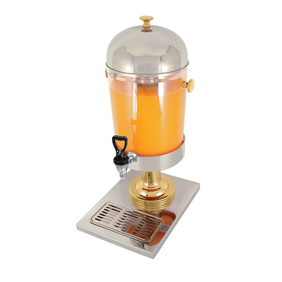 Update International JD-22GD 2.2-gal Juice Dispenser - Gold-Plated Accent/Stainless