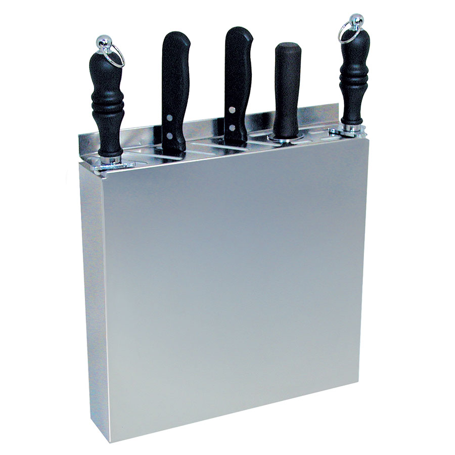 "Update International KR-1212 12-Slot Knife Rack - 12-1/2x2-1/2x12-3/4"" Stainless"